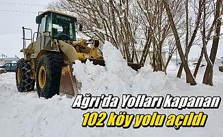 Ağrı'da Yolları kapanan 102 köy yolu açıldı