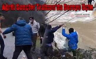 Ağrılı Gençler Trabzon'da Dereye Uçtu