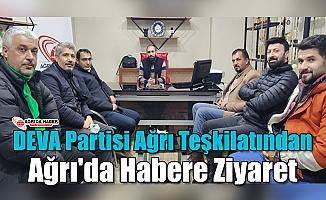 DEVA Partisi Ağrı İl Başkanı Murat Dağtekin ve Yönetiminden Ağrı'da Haber'e Ziyaret