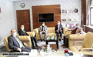 Diyadin Kaymakamı Balcı'dan Milli Eğitim Müdürü Tekin'eziyaret
