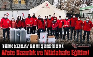 Türk kızılay Ağrı Şube Afet Timleri Afete Hazır