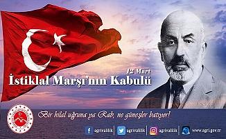 Vali Dr. Osman Varol'un 12 Mart İstiklal Marşı'mızın Kabulü mesajı