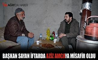 Başkan Savcı Sayan iftar sofrasını Aziz amca ile paylaştı