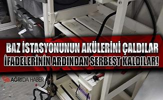 Ağrı'da Baz İstasyonundaki Aküleri çalan hırsızlar yakalandı