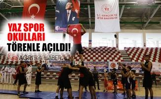 Ağrı'da Yaz Spor Okulları Büyük Bir Törenle Açıldı!