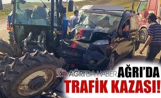 Ağrı Taşlıçay'da Trafik Kazası Sonucu 2 Kişi Yaralandı!