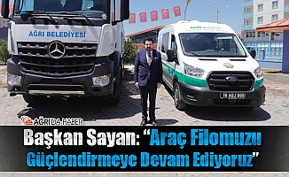 Ağrı Belediyesi'nin Filosuna Kanal Açma ve Cenaze Nakil Aracı Eklendi