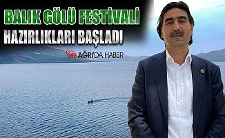 Ağrı Taşlıçay'da Balık Gölü Festivali hazırlıkları başladı