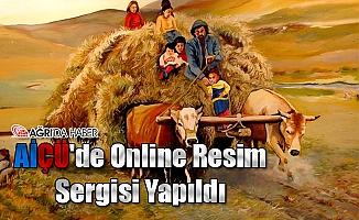 AİÇÜ'de Online Resim Sergisi Yapıldı