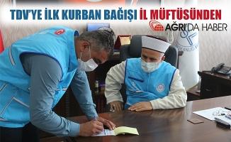 TDV'ye İlk Kurban Bağışı Tandoğan TOPÇU'dan
