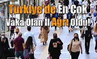 Türkiye'de En Çok Vaka Olan İl Ağrı Oldu!