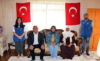 Ağrı Gençlik Merkezinden Şehit Ailesine Ziyaret