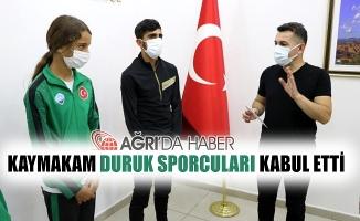 Eleşkirt Kaymakamı DURUK Sporcuları Kabul Etti!