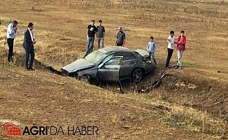 Ağrı'da Araç Takla Attı, Yaralılar Var!