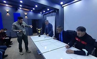Eleşkirt'te Voleybol Turnuvası Kura Çekimleri Yapıldı