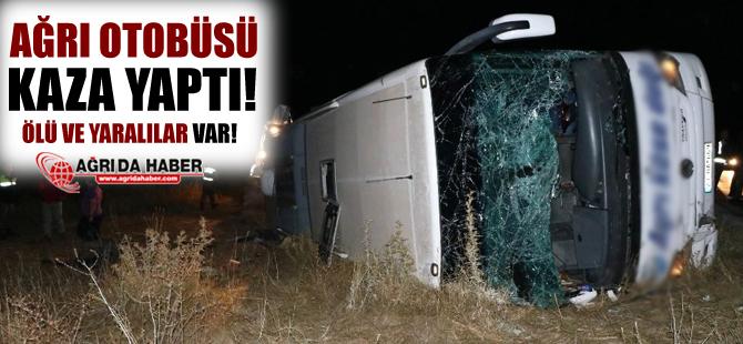 Ağrı Otobüsü Yozgat'ta Kaza Yaptı!