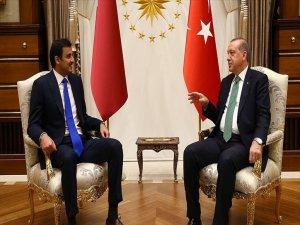 Cumhurbaşkanı Erdoğan İle Katar Emiri Al Sani Görüştü