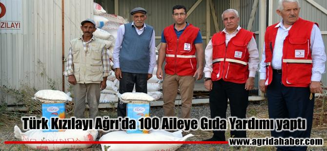 Türk Kızılayı Ağrı'da 100 Aileye Gıda Yardımı yaptı