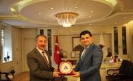 Eleşkirt Kaymakamı Gülhani Ozan Sarı'dan Rektör Abdukhalik Karabulut'a Ziyaret