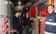Ak Parti İl Başkanı Abbas Aydın İtfaiye Ekiplerini Ziyaret Etti