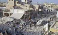 Esad İdlib'i Yine Vurdu Çok Sayıda Ölü Var