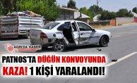 Patnos'ta Düğün Konvoyunda Trafik Kazası! 1 Yaralı!