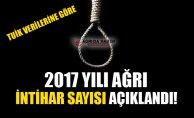 TUİK Verilerine göre 2017 Yılı Ağrı'da İntihar Edenlerin Sayısı!