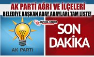 Ak Parti Ağrı Belediye Başkanı Aday Adayları Tam İsim Listesi!