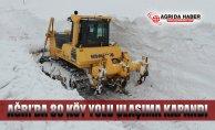 Ağrı'da Kar Yağışı 80 Köy Yolu ulaşıma kapandı