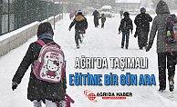Ağrı Eleşkirt'te Eğitime Kar Engeli!