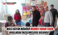Ağrı Milli Eğitim Müdürü Mehmet Faruk Tekin Okulları İnceledi