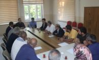Ağrı Motorlu Taşıt Sürücü Kurslarının temsilcileriyle istişare toplantısı