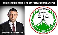 Ağrı Barosundan Van Mardin ve Diyarbakır Belediyelerine Kayyum Atanmasına Tepki