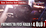 Ağrı Patnos'ta Feci Trafik Kazası! 4 Ölü