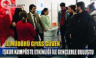 """Ağrı'nın Üniversiteli Gençleriyle """"İŞKUR KAMPÜSTE"""" Etkinliği"""