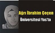 Ağrı İbrahim Çeçen Üniversitesi Yas'ta