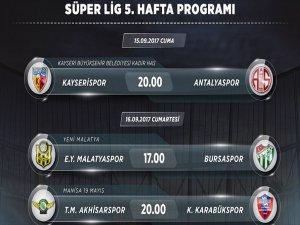 Süper Lig'de 5. Hafta Heyecanı
