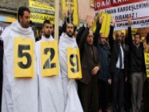 AĞRI'DAN 529 İDAM KARARINA PROTESTO