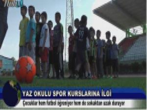 Ağrı'da Yaz Spor Okulu kursları ilgi görüyor