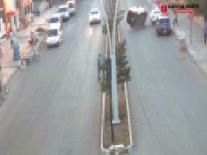 Ağrı'da MOBESE'ye Yansıyan Trafik kazaları