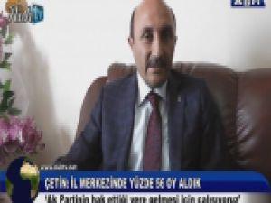 Ak Parti İl Başkanı Çetin'den Açıklamalar