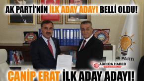 Canip Erat AK Parti'den Ağrı Belediye Başkan Aday Adaylığı Başvurusunu Yaptı