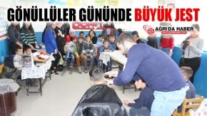 7 Aralık Dünya Gönüllüler Gününde Öğrencileri Sevdirdiler