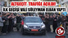 Ağrı Dörtyol Kavşağı Trafiğe Açıldı Vali Elban İlk Geçişi Yaptı