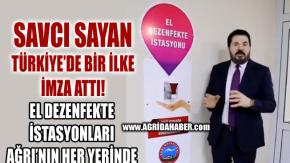 Ağrı Belediyesi El Dezenfekte İstasyonu Kurdu