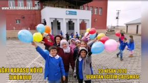 Ağrı Karasu Köyü İlkokulu Öğrencilerinden uzaktan eğitim ile 23 Nisan şarkısı