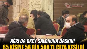 Ağrı'da Kovid-19 kurallarını ihlal eden kafede okey oynayanlara 58 bin 500 lira ceza