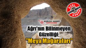 """Ağrı'nın Bilinmeyen Güzelliği: """"Diyadin Meya Mağaraları"""""""