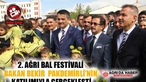 2. Ağrı Bal Festivali Bakan Bekir Pakdemirli'nin Katılımıyla Gerçekleşti Video