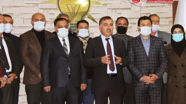 Ağrı AK Parti İl Başkanı Abbas Aydın ve Yönetiminden Savcı Sayan'a Destek